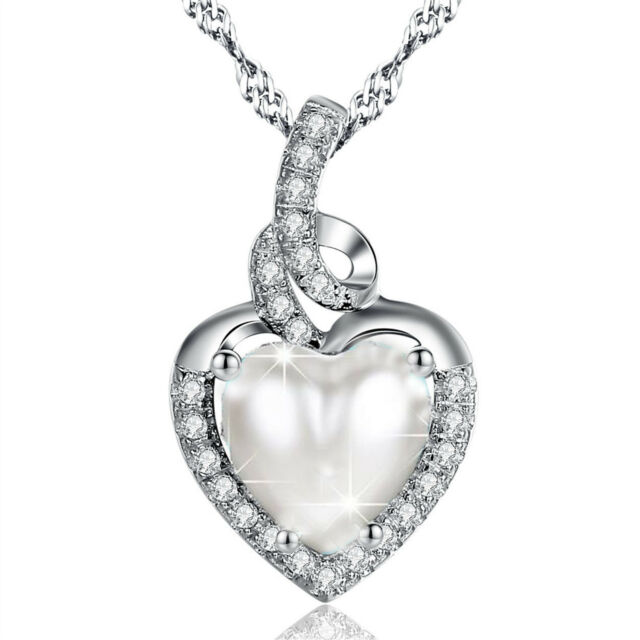 Heart Shaped  Sterling Silver Locket with CZ Birthstone  on a 18chain