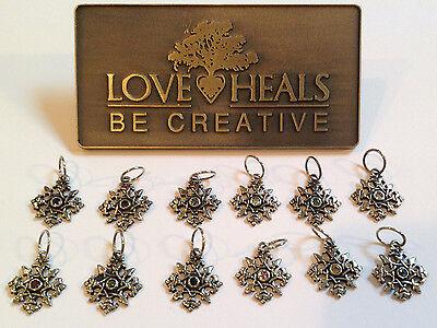 Love Heals Be Creative Snowflake Birthstone Charms NEW retails $25.00