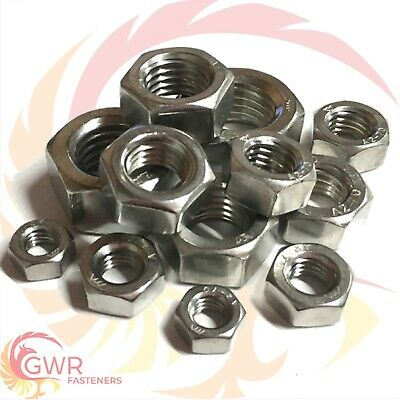M36 36mm STAINLESS STEEL A2 HEXAGON HALF THIN NUTS FOR BOLTS SCREWS LOCK