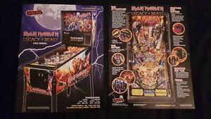 1x Iron Maiden Pro Stern Pinball ORIGINAL NOS Promotional Advertising Flyer