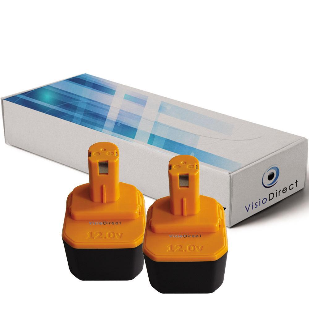 Lot de 2 batteries type B1230H pour Ryobi 3300mAh 12V - Société Française -