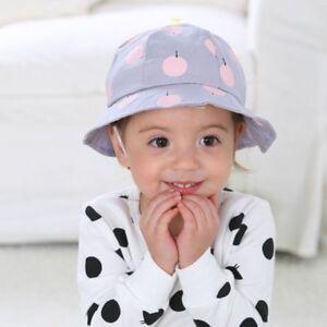 Cute Toddler Kids Sun Cap Polka Dot Bucket Hat Outdoor Baby Cap Sun ... 0864ee74c02f