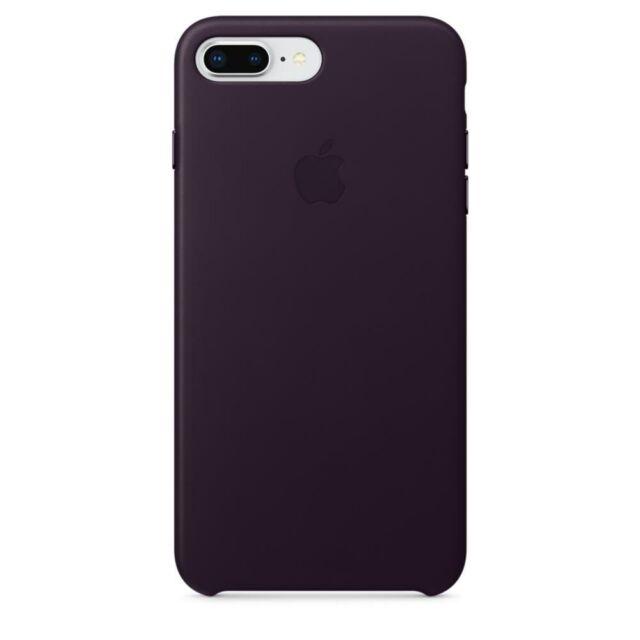 brand new 62055 95c17 Apple iPhone 8 Plus Leather Case - Dark Aubergine