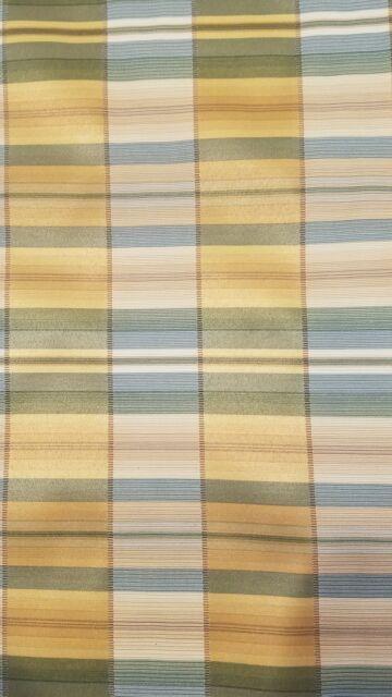 2 Yards Yellow Blue Green Plaid Home Decor Drapery Light Upholstery