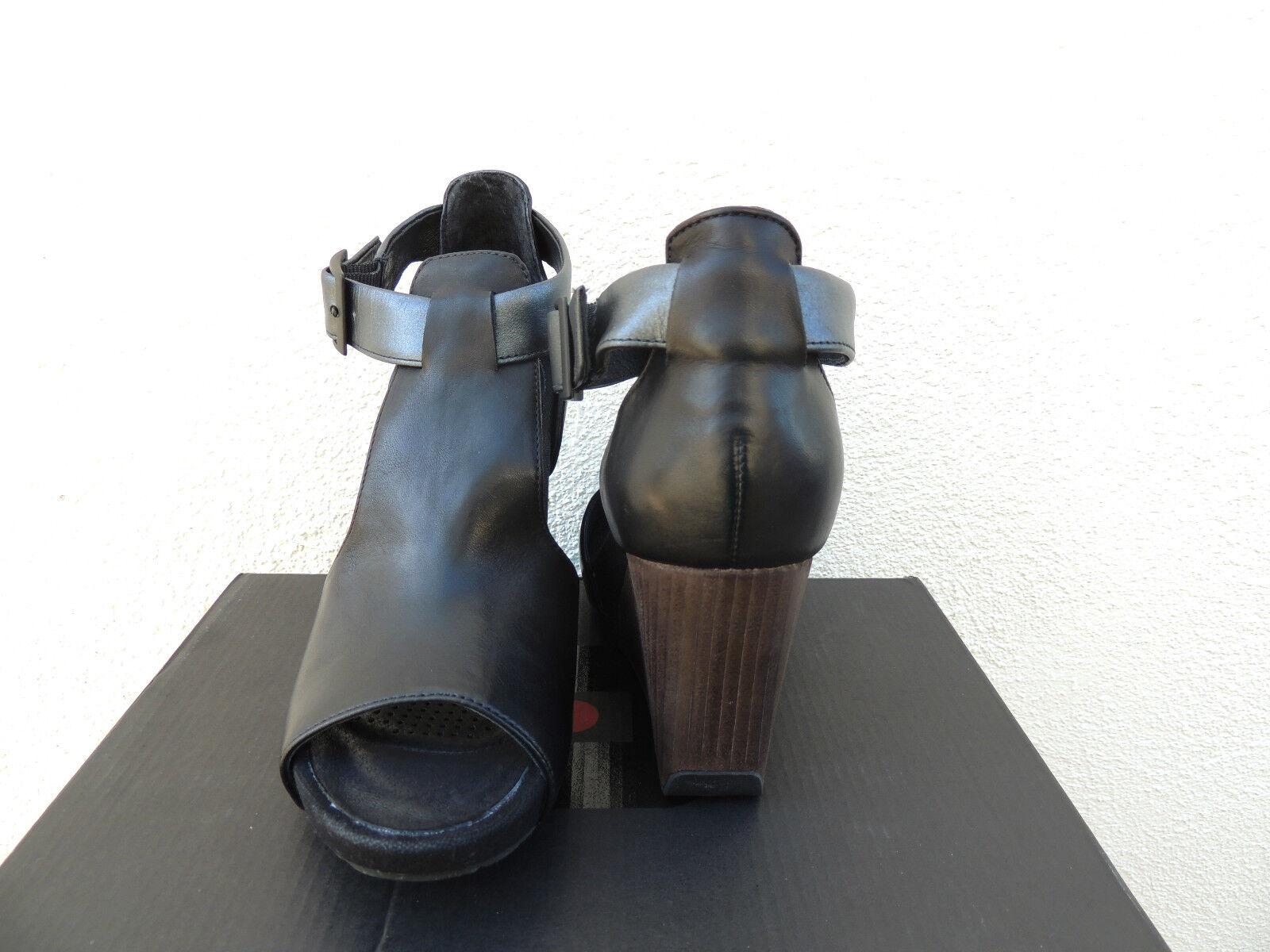 TSUBO TSUBO TSUBO NANCIE schwarz LEATHER ANKLE STRAP WEDGE HEELS, US 9.5  EUR 40.5 NIB 27ee24