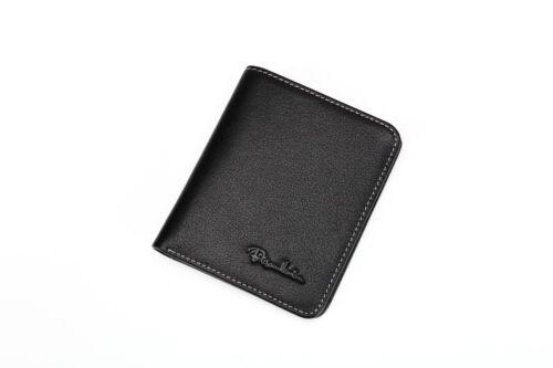 NEW Mini Slim Bifold Men Genuine Leather Wallet
