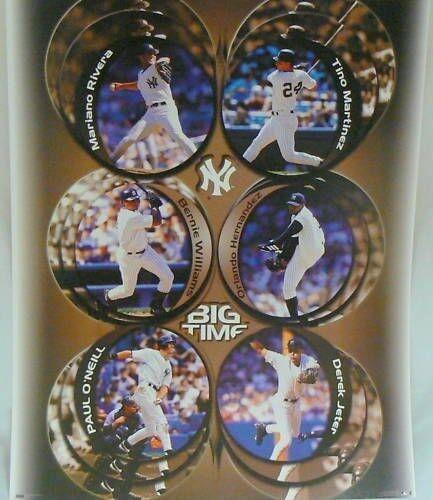 New York Big Time Baseball Players Poster