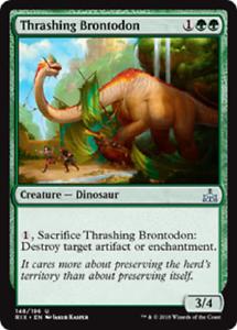 MTG Rivals of Ixalan 4x Thrashing Brontodon PLAYSET Uncommon MINT