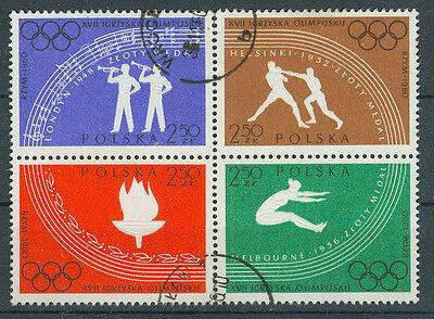 Polen Herrlich Polen Briefmarken 1960 Olympia Mi.nr.1170-1173 Gestempelt