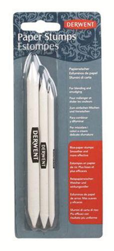 Derwent Paper Stump Tortillion Pack of 3 Sizes Blend Pencil Charcoal /& Pastel