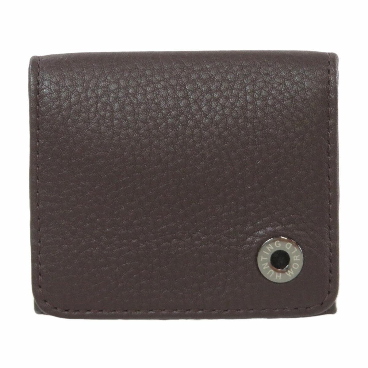 HUNTING WORLD coin purse Logo Hardware Leather