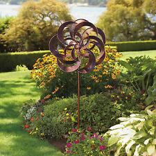Stylecraft Twin Blade Wind Catcher Spinner Garden Windmill Yard Outdoor Decor
