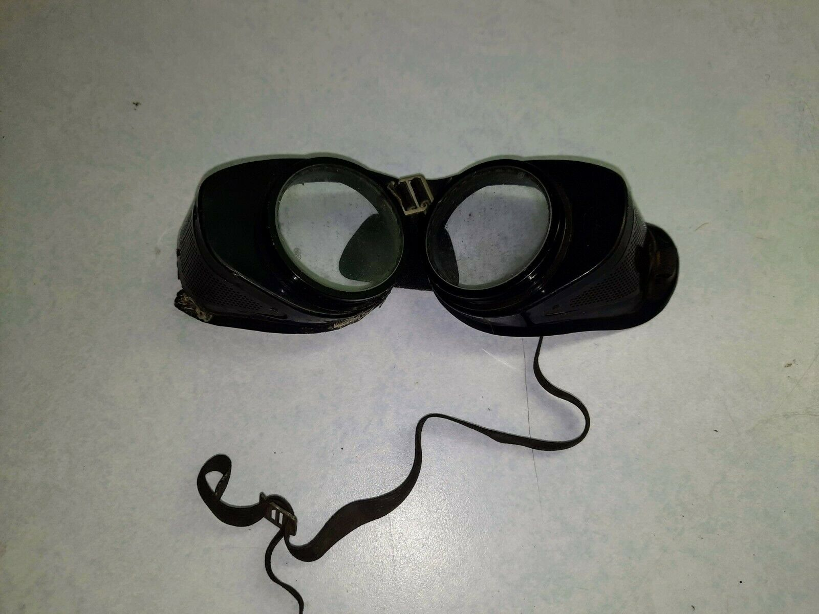 Vintage COVERGLAS Optical safety glasses steampunk style NEED REPAIR