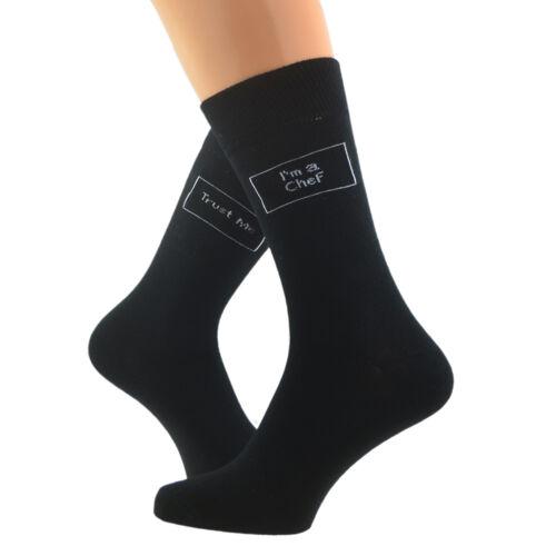 Trust me I/'m a Chef Woven Mens Socks UK 5-12 X6S058