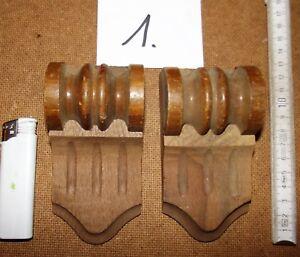 Gewissenhaft Applikationen 1 Antik Holz Paar Nußbaum 1890 Kapitelle Nr Holzzierteile