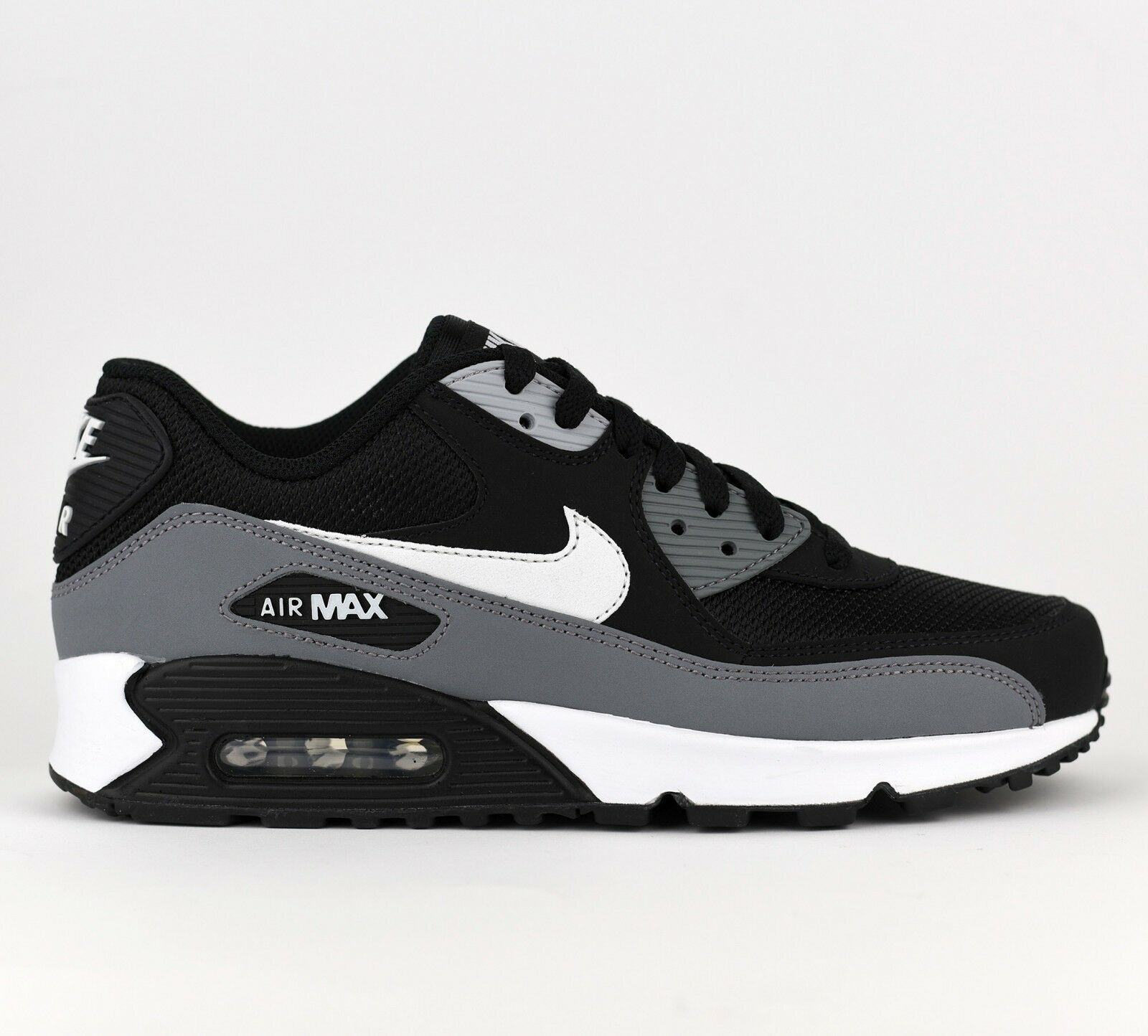 Nike Air Max 90 Essential Men Lifestyle Sneakers New Black White Grey AJ1285-018