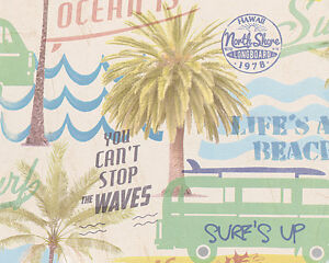 1-49-qm-A-S-Creation-30469-1-Boys-amp-Girls-5-Surfing-Tapete-Beach-Bunt