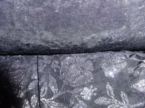125cm WIDE CHRISTMAS DRESS // CRAFT // THEATRE FABRIC BLACK SPARKLE LYCRA