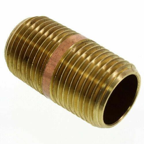 "1-1//4/"" X 2/"" Sholder LEAD FREE Brass Pipe Nipple"