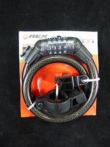REXBike 0765 Fahrradschloss Zahlen Kabelschloss