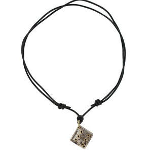 Lady Luck of Fortuna and Tyche Wooden Adjustable Dice Pendant Leather Necklace