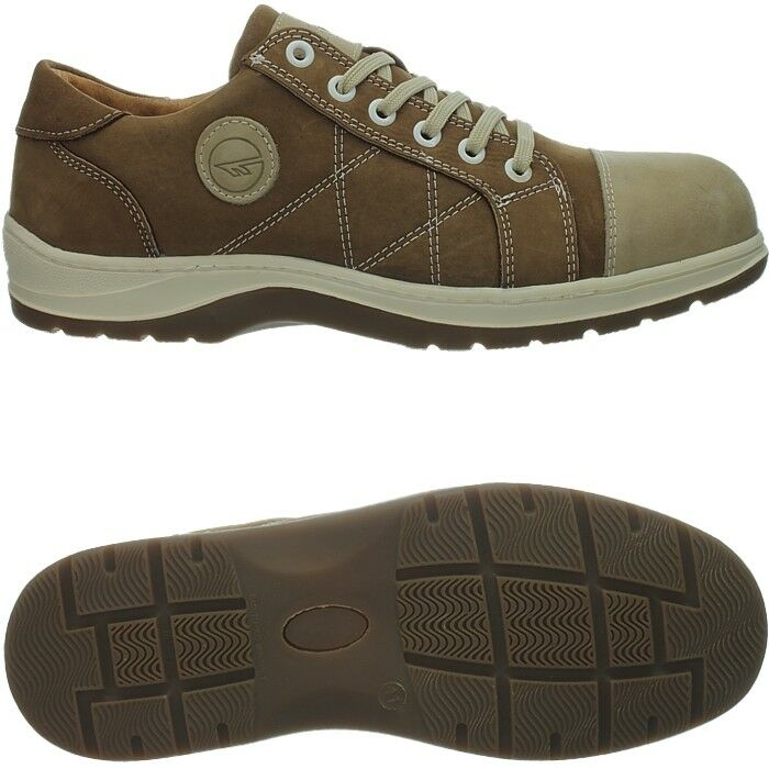 Hi-Tec Porto men's work boots brown safety boots trainers water resistant suede