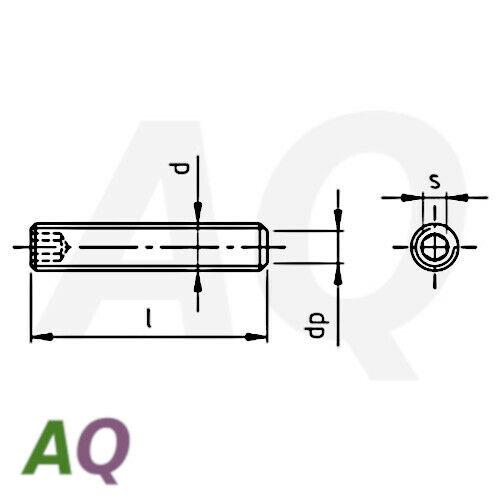 Gewindestifte DIN 913 Edelstahl VA Innensechskant M6  Madenschrauben ISO 4026
