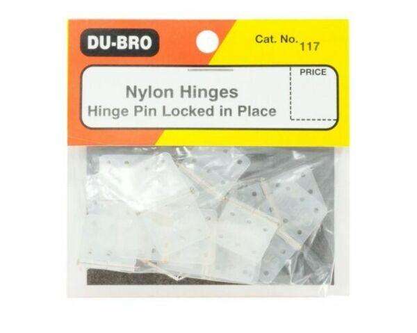 15-Pack Du-Bro 117 5//8 x 1-1//8 Standard Size Nylon Hinge
