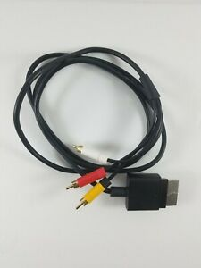 Official-Microsoft-Xbox-360-AV-Composite-Audio-Video-Cable-Black-X821376-001
