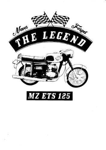 T-shirt Mz Ets 125 Motorcycle Youngtimer Bike Oldtimer
