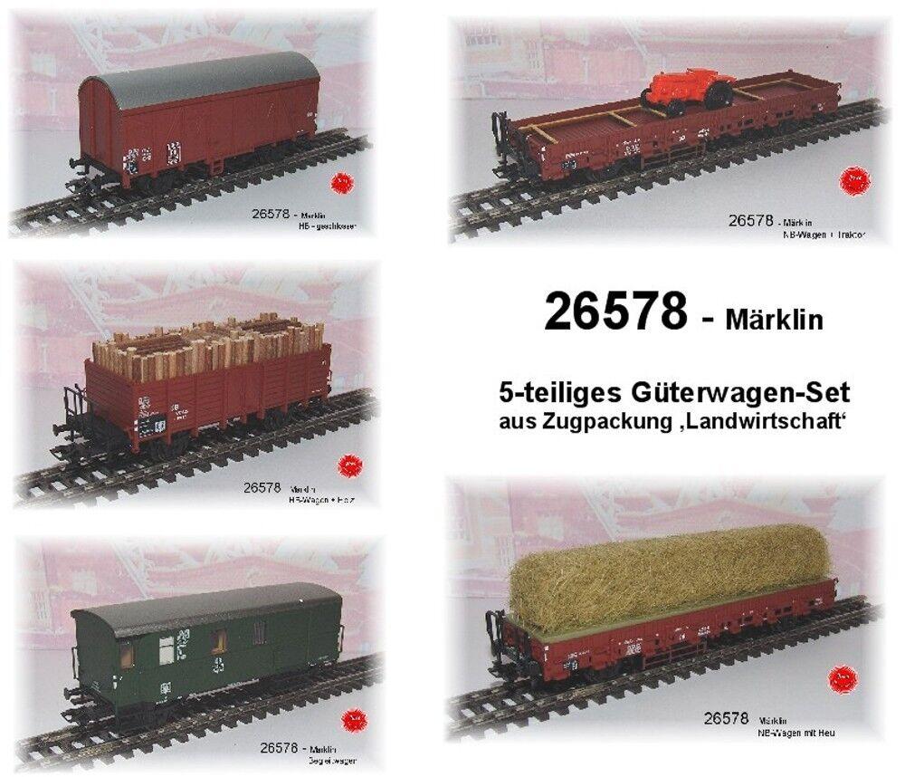 Aus   26578 SOLO LA 5 Vagone merci della DB   NUOVO in scatola originale