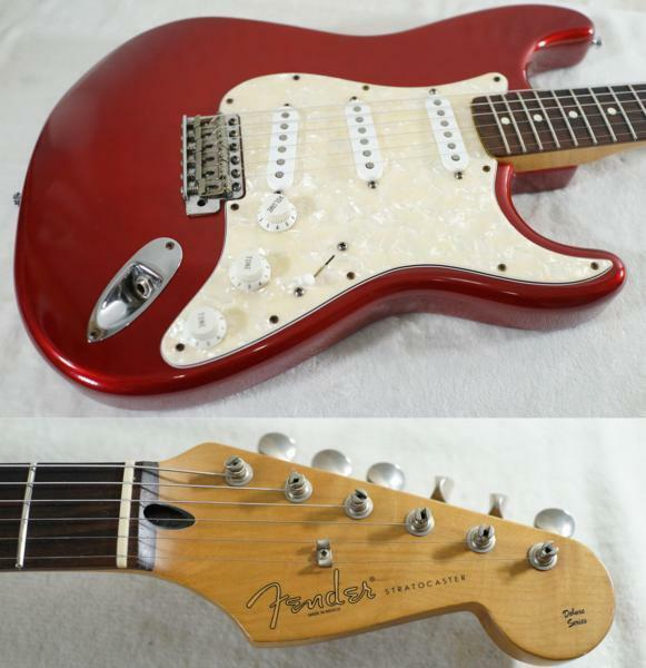 Fender Mexico Deluxe Powerhouse Stratocaster Candy Apple rot rare EMS F S