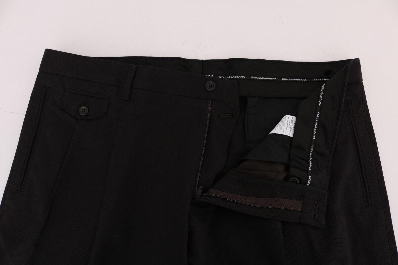 Neuf Dolce & Gabbana Pantalon Pantalon Gabbana Marron Robe Rayée Habillé S.It56 / W42 6e88f8