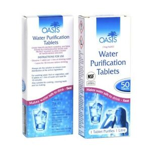 2 Water Purification Tablets Trinkwasser Aufbereitung Tabletten Camping Survival