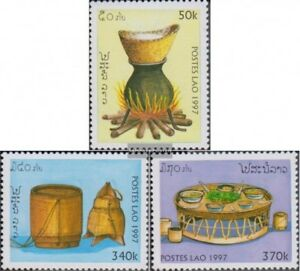 Laos-1574-1576-kompl-Ausg-postfrisch-1997-Laotische-Kueche