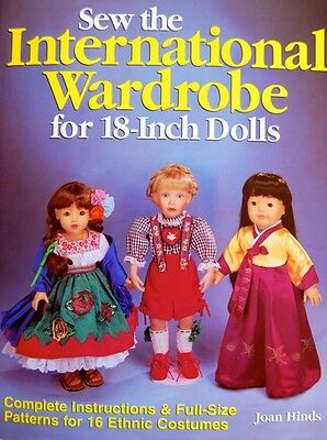 """Sew The International Wardrobe for 18"""" Dolls Patterns by Joan Hinds Costumes"""