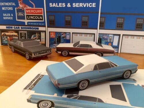 Papercraft 1968 Mercury Parklane BLUE coupe Paper Model Car EZU-make