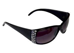 Damenbrille Sonnenbrille mit Strass Brille Damen Sunglasses M 38 (Braun) xcvQh