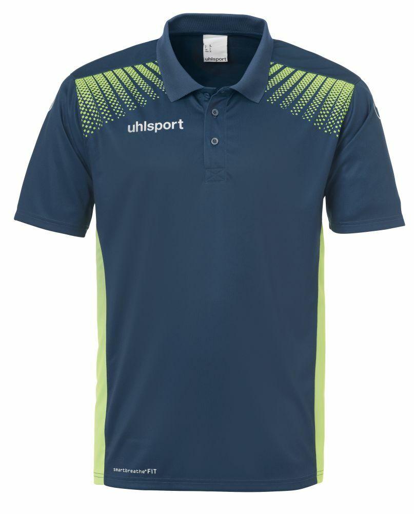Uhlsport Fußball Goal Polo Shirt Kinder Poloshirt blau hellgrün  | König der Quantität
