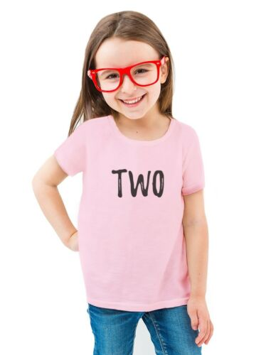 2nd Birthday Gift For Two Year Old Child Toddler//Kids Girls/' Fitted T-Shirt
