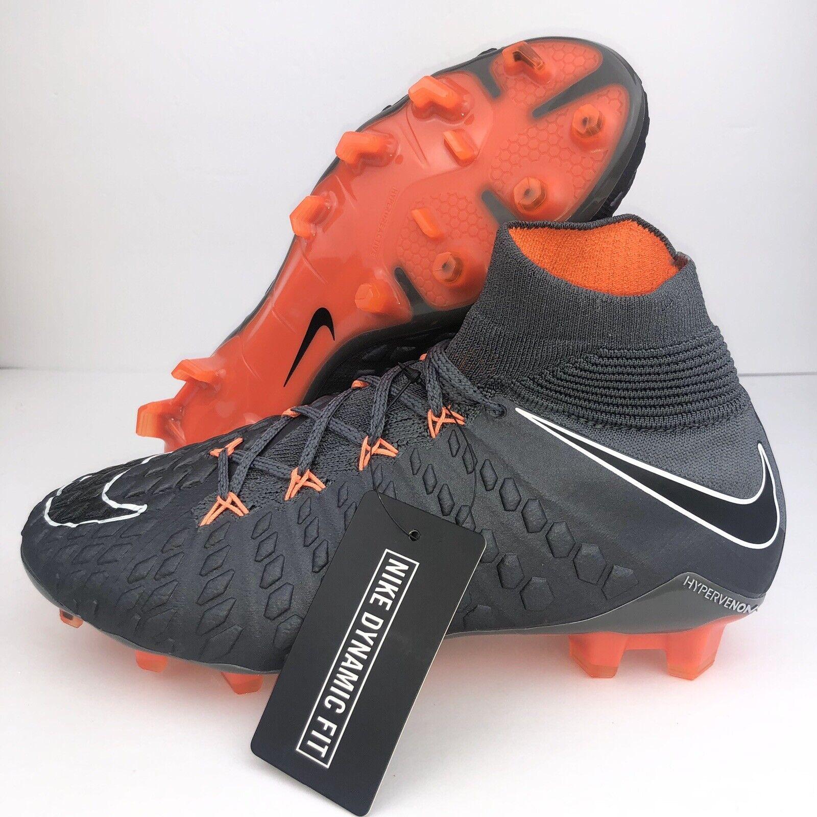 Nike  Hypervenom Fantasma 3 III Elite DF FG Talla 5.5 Tacos Naranja gris AH7270 081  calidad oficial