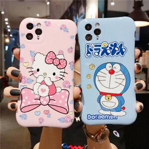 KT Cat Case Fr Apple iPhone 11 Pro Max Xs 7 Doraemon Waistline Soft Cover+Holder