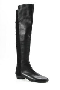 Vince-Camuto-Womens-Leather-Over-Knee-Boots-Black-Size-8