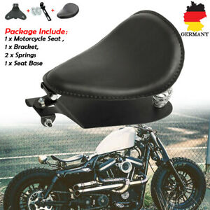 Motorrad-3-039-039-Schwarz-Solo-Sitz-Schwingsattel-Sitzfeder-Grundplatte-Fuer-Harley