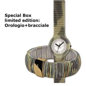 HIP-HOP-SPECIAL-BOX-LIMITED-EDITION-Orologio-donna-bracciale-HK0036-camouflage