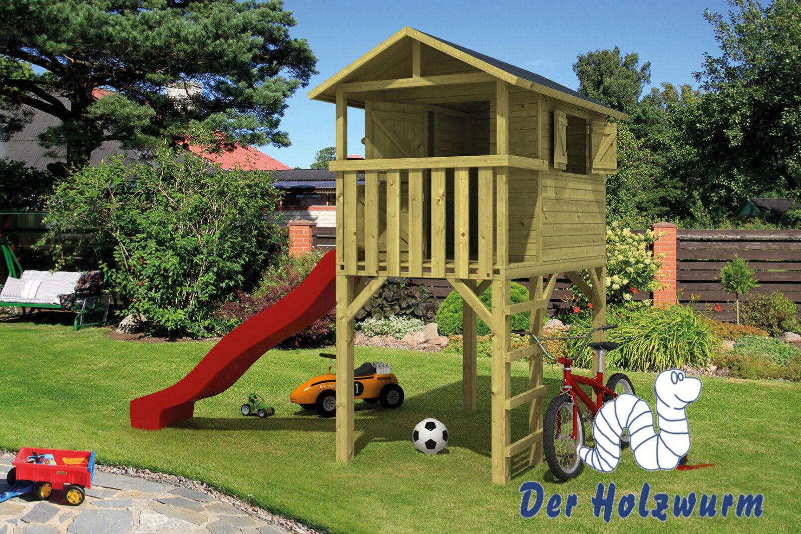Kinderspielhaus Voldemort Gartenhaus Holzhaus 120 x 204 cm 16 mm Holz Terrasse