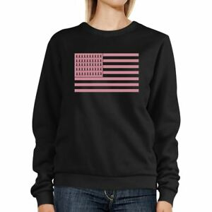 Breast-Cancer-Awareness-Pink-Flag-Black-SweatShirt