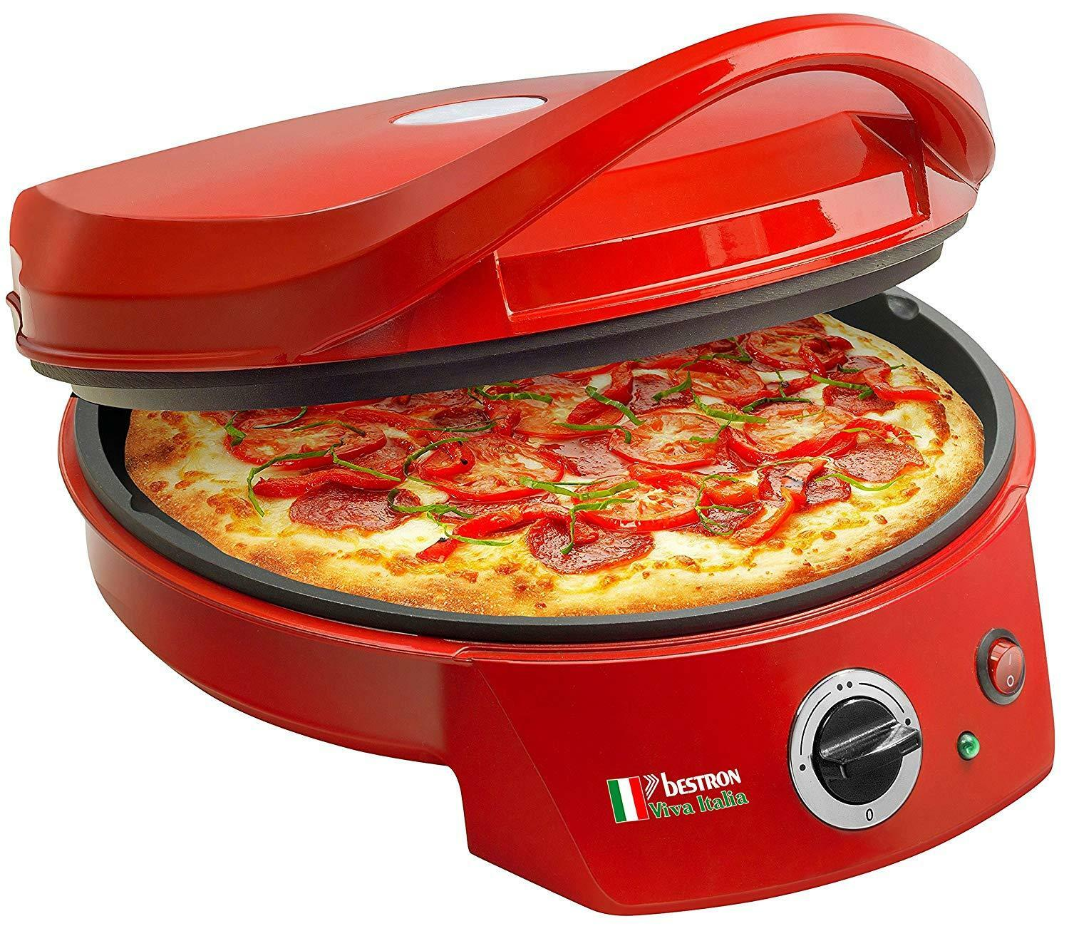 Bestron Apz400 Ovens Toaster pizza Red 1800W - ø 10 5 8in con Thermostat