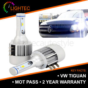 2X-Canbus-VW-Tiguan-H15-CREE-LED-DRL-High-Beam-Bombillas-puro-Xenon-Blanco-6000K