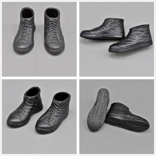 "Medicom RAH 1//6th Modern Trendy Black Canvas Shoes Sneakers Model for 12/"" Doll"